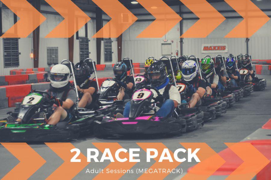 2 Adult Race Package (Mega Track)