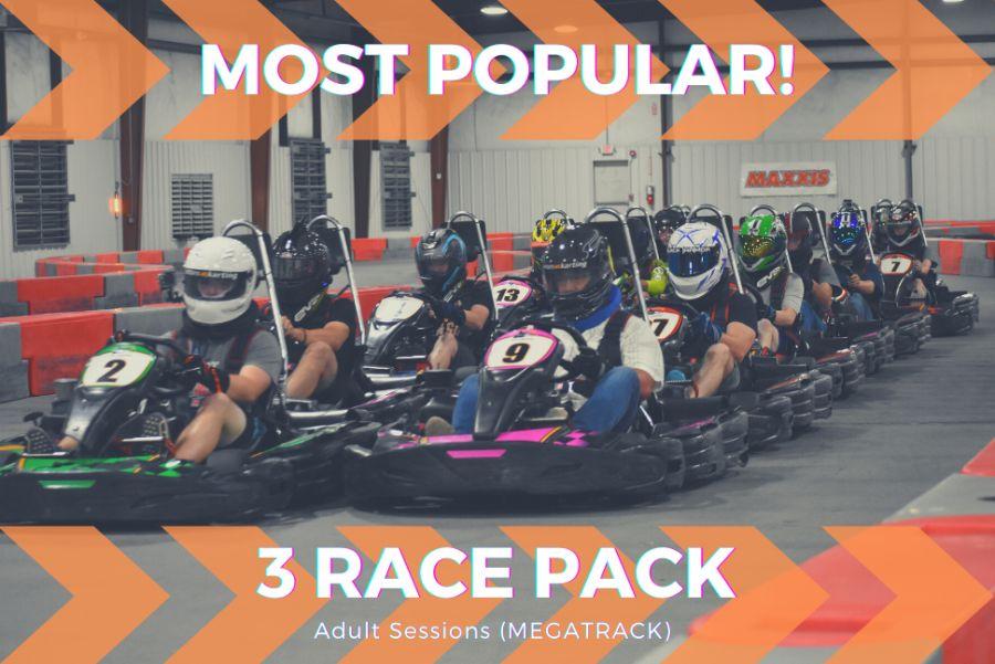 3 Adult Race Package (Mega Track)